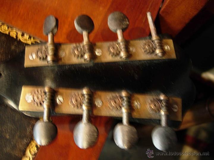Instrumentos musicales: FANTASTICA MANDOLINA DE MADERA DE PALISANDRO Y NACAR CON SU CAJA - Foto 6 - 52699940