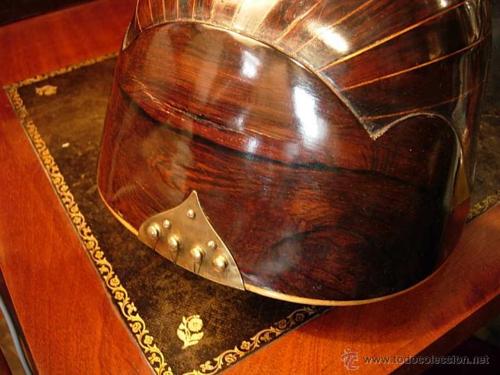 Instrumentos musicales: FANTASTICA MANDOLINA DE MADERA DE PALISANDRO Y NACAR CON SU CAJA - Foto 8 - 52699940