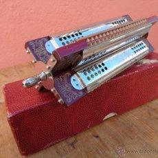Instrumentos musicales: ARMONICA HOHNER DE CRUZ, 4 TONO, ANTIGUA ALEMAN. Lote 112680023
