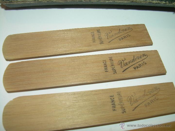 Instrumentos musicales: ANTIGUAS BOQUILLAS DE CAÑA PARA SAXOFON....NUEVAS SIN HABER SIDO USADAS...SIGLO XIX. PRINCIPIOS XX. - Foto 2 - 52915503