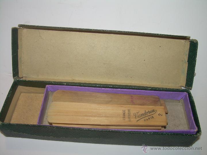 Instrumentos musicales: ANTIGUAS BOQUILLAS DE CAÑA PARA SAXOFON....NUEVAS SIN HABER SIDO USADAS...SIGLO XIX. PRINCIPIOS XX. - Foto 6 - 52915503