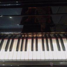 Instrumentos musicales: PIANO PARED LACADO EN NEGRO KINGSBURG. PERFECTO ESTADO. Lote 53242707