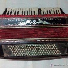 Instrumentos musicales: ANTIGUO ACORDEÓN ITALIANO PAOLO SOPRANI E FIGLI. Lote 53312455