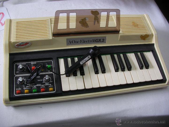Instrumentos musicales: ANTIGUO Y RARO ORGANO A-ONE ELECTRON GX.2 - Foto 2 - 53501330