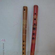 Instrumentos musicales: LOTE 2 FLAUTA ETNICA DE MADERA, ORIGINALES. Lote 53598197
