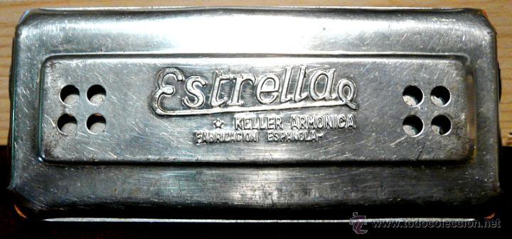 Instrumentos musicales: ARMONICA KELLER ESTRELLA FABRICACION ESPAÑOLA - Foto 5 - 53599826
