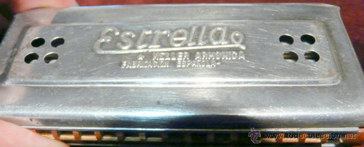 Instrumentos musicales: ARMONICA KELLER ESTRELLA FABRICACION ESPAÑOLA - Foto 9 - 53599826