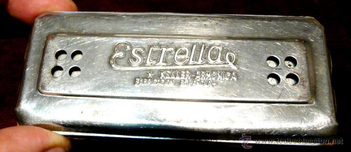 Instrumentos musicales: ARMONICA KELLER ESTRELLA FABRICACION ESPAÑOLA - Foto 12 - 53599826