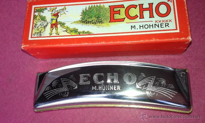 HOHNER ARMÓNICA ECHO 32 AGUJEROS HARMONICA 1930 C BOX ORIGINAL ALEMANIA EXCELENTES CONDICIONES (Música - Instrumentos Musicales - Viento Metal)