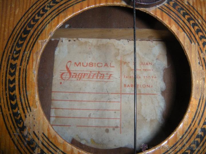 Instrumentos musicales: GUITARRA SAGRISTA´S BARCELONA - Foto 9 - 53850639