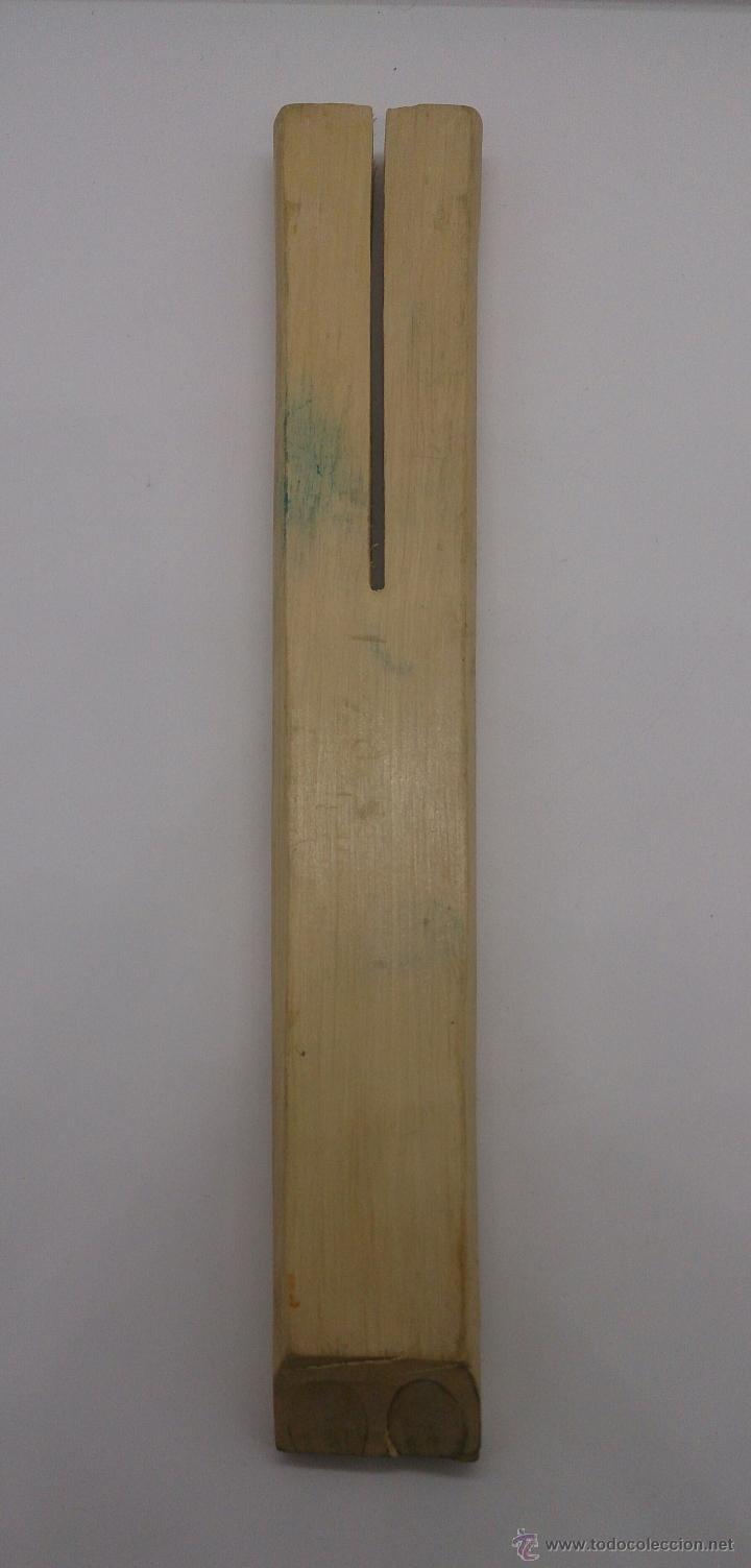 Instrumentos musicales: Flauta antigua doble en madera de estilo arte etnográfico pastoril , ( BULGARIA ). - Foto 5 - 87548807