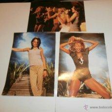 Instrumentos musicales: 3 FOTOS DE LAS SPICE GIRLS, FIRMADAS POR DETRAS, DE ALGUNA REVISTA. Lote 54108855