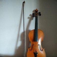 Instrumentos musicales: ANTIGUO VIOLIN 3/4 CON ESTUCHE Y ARCO. Lote 32068982