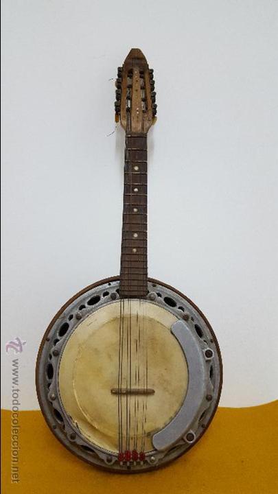 BANJO ANTIGUO SALTARELLO (Música - Instrumentos Musicales - Cuerda Antiguos)