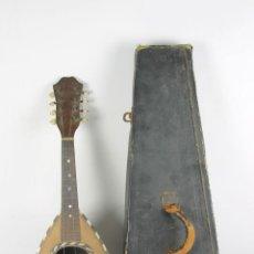Instrumentos musicales: ANTIGUA MANDOLNA. INCRUSTACIONES EN NACAR Y CAREY. CLAVIJERO COMPLETO. S XIX.. Lote 46086872
