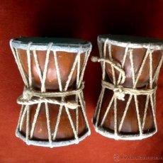 Instrumentos musicales: TAMBORES PEQUEÑOS PARA BAILE. INDIA. ENVIO CERTIFICADO INCLUIDO EN EL PRECIO.. Lote 54827424