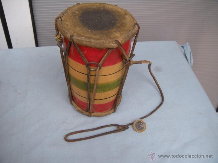 Instrumentos musicales: ANTIGUO TAMBOR TIMBAL - Foto 2 - 54889579