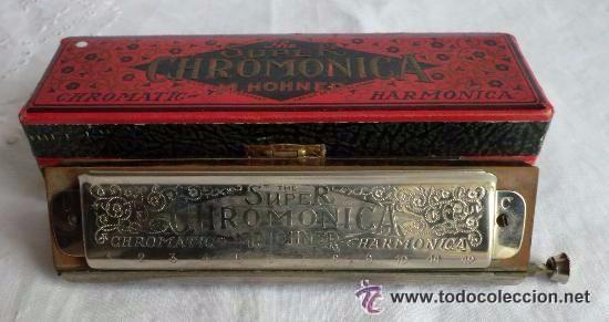 HARMONICA SUPER CHROMONICA M.HONER Nº260 1/2 ORIGINAL ALEMANA,IDEAL COLECCIONISTAS (Música - Instrumentos Musicales - Viento Metal)