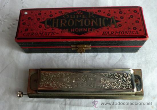 Instrumentos musicales: HARMONICA SUPER CHROMONICA M.HONER Nº260 1/2 ORIGINAL ALEMANA,IDEAL COLECCIONISTAS - Foto 2 - 55061326