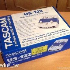 Instrumentos musicales: TASCMAN US-122 INTERFAZ DE AUDIO Y MIDI USB COMPLETO FUNCIONANDO Y EN EXCELENTE ESTADO. Lote 55798294