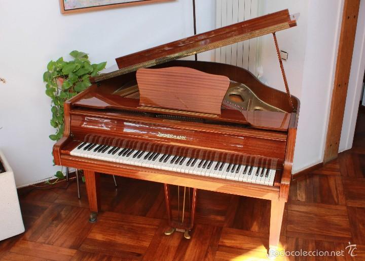PIANO ZIMMERMANN MEDIA COLA (Música - Instrumentos Musicales - Pianos Antiguos)