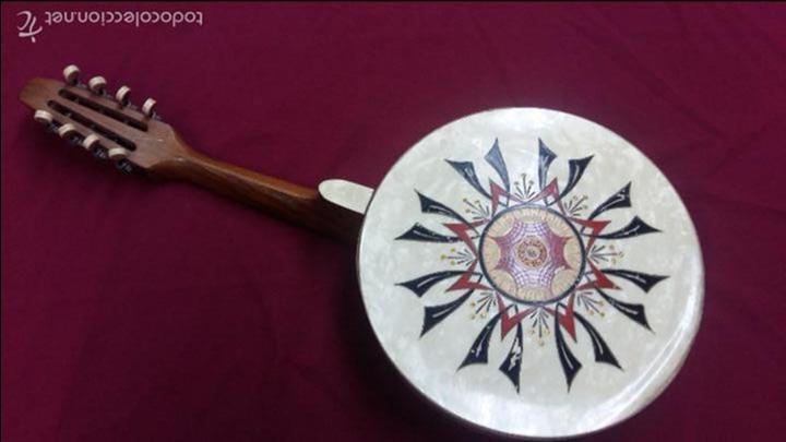 Instrumentos musicales: ANTIGUO BANJO, 8 CUERDAS. POSIBLE SALTARELLO, AÑOS 30. - Foto 2 - 55921328