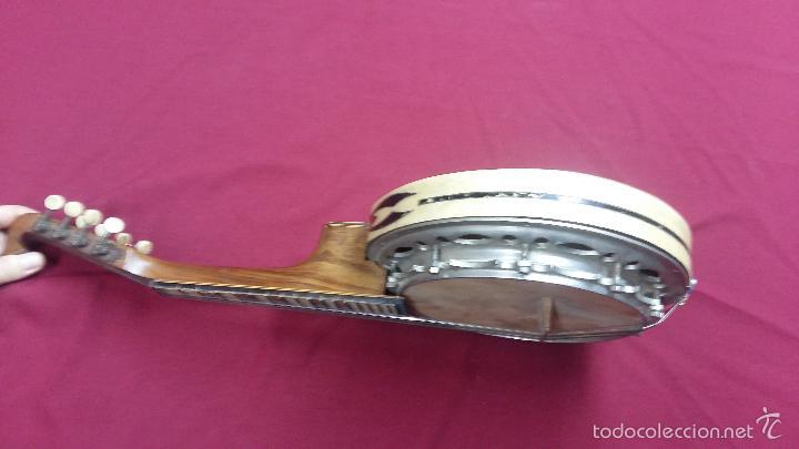 Instrumentos musicales: ANTIGUO BANJO, 8 CUERDAS. POSIBLE SALTARELLO, AÑOS 30. - Foto 3 - 55921328