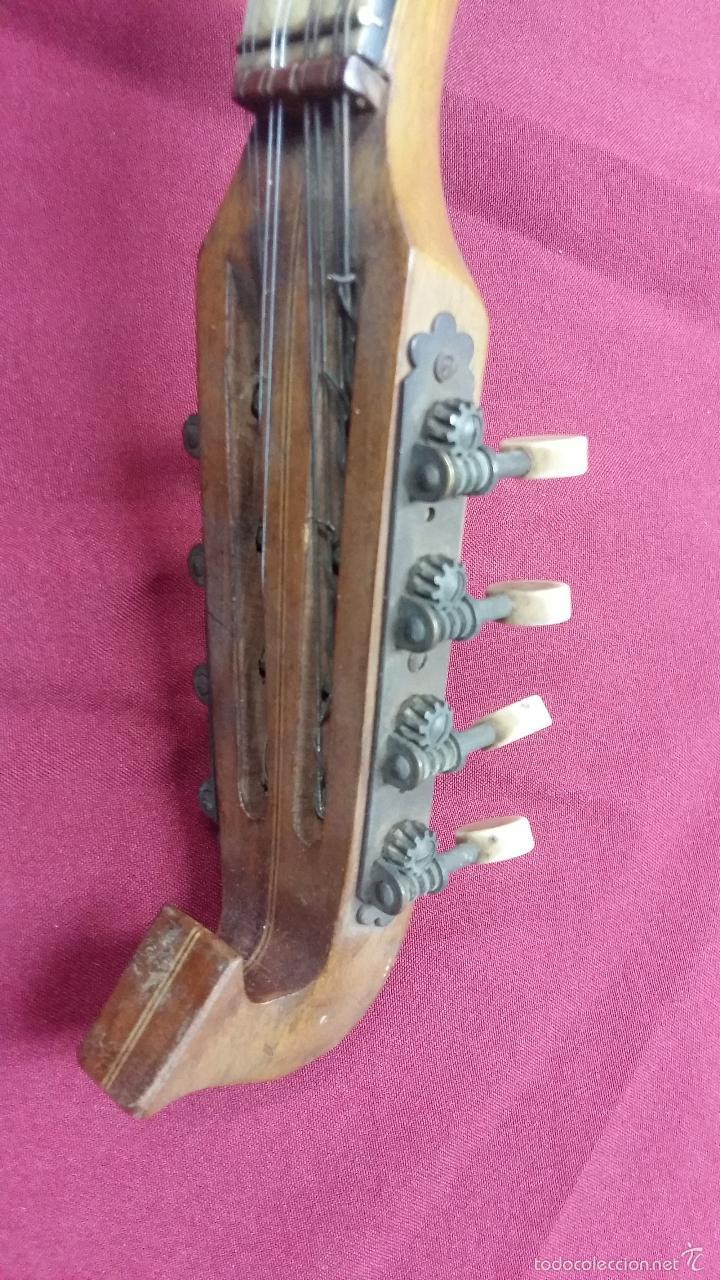 Instrumentos musicales: ANTIGUO BANJO, 8 CUERDAS. POSIBLE SALTARELLO, AÑOS 30. - Foto 4 - 55921328