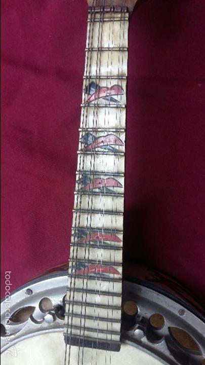Instrumentos musicales: ANTIGUO BANJO, 8 CUERDAS. POSIBLE SALTARELLO, AÑOS 30. - Foto 5 - 55921328