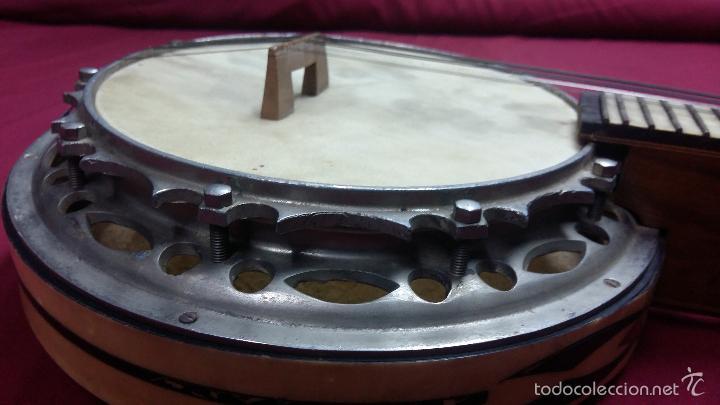 Instrumentos musicales: ANTIGUO BANJO, 8 CUERDAS. POSIBLE SALTARELLO, AÑOS 30. - Foto 6 - 55921328