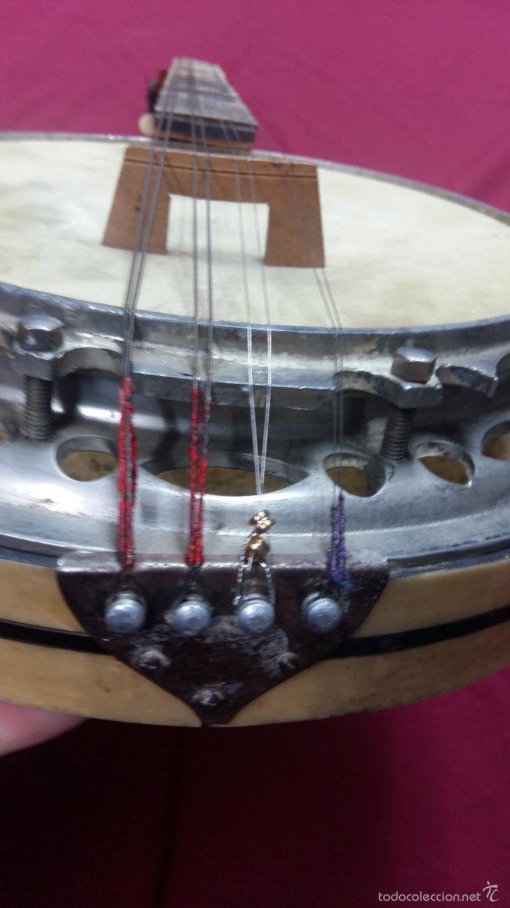 Instrumentos musicales: ANTIGUO BANJO, 8 CUERDAS. POSIBLE SALTARELLO, AÑOS 30. - Foto 9 - 55921328