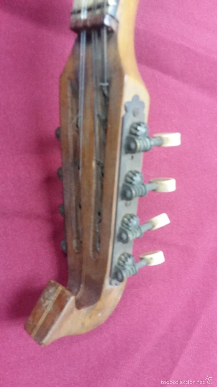 Instrumentos musicales: ANTIGUO BANJO, 8 CUERDAS. POSIBLE SALTARELLO, AÑOS 30. - Foto 12 - 55921328