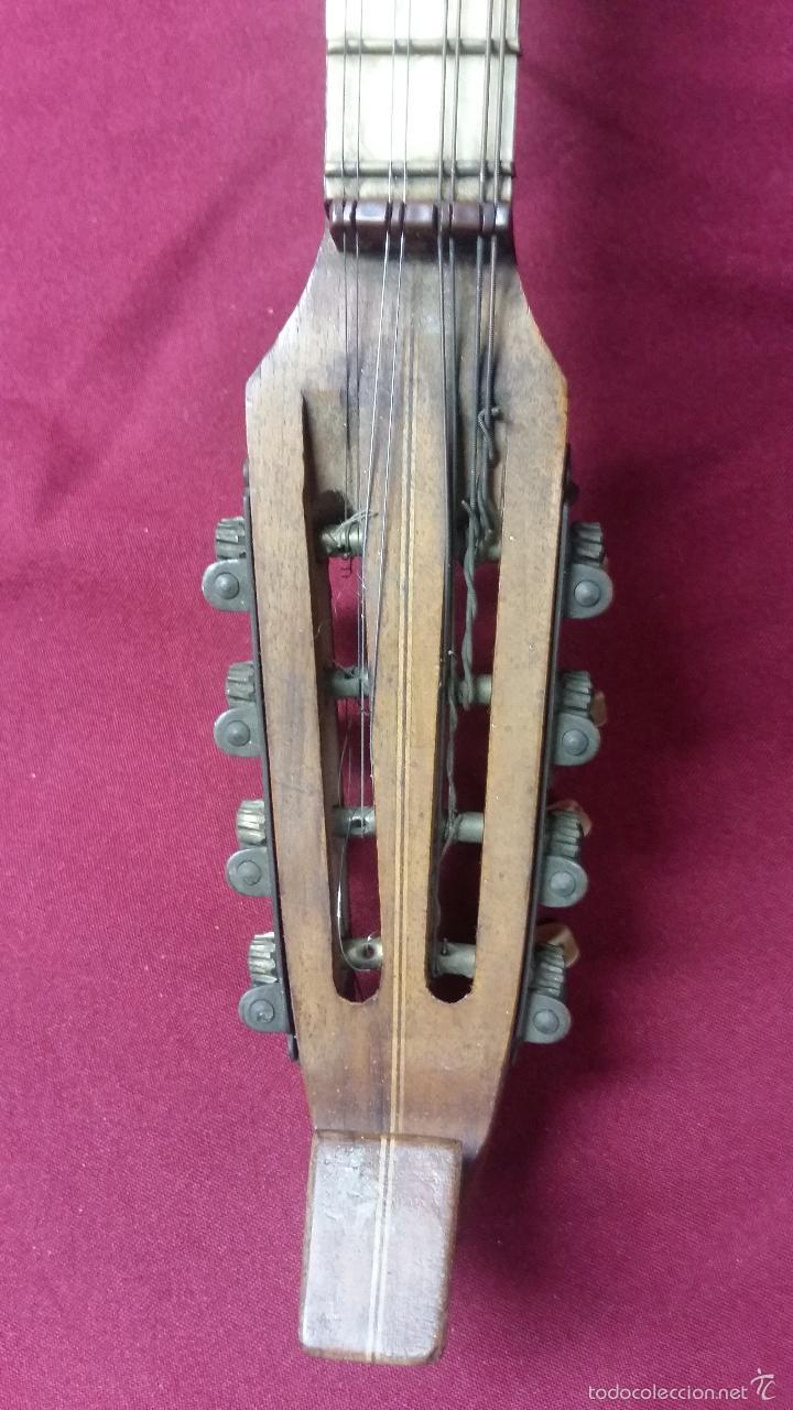 Instrumentos musicales: ANTIGUO BANJO, 8 CUERDAS. POSIBLE SALTARELLO, AÑOS 30. - Foto 13 - 55921328