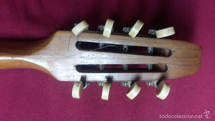Instrumentos musicales: ANTIGUO BANJO, 8 CUERDAS. POSIBLE SALTARELLO, AÑOS 30. - Foto 14 - 55921328