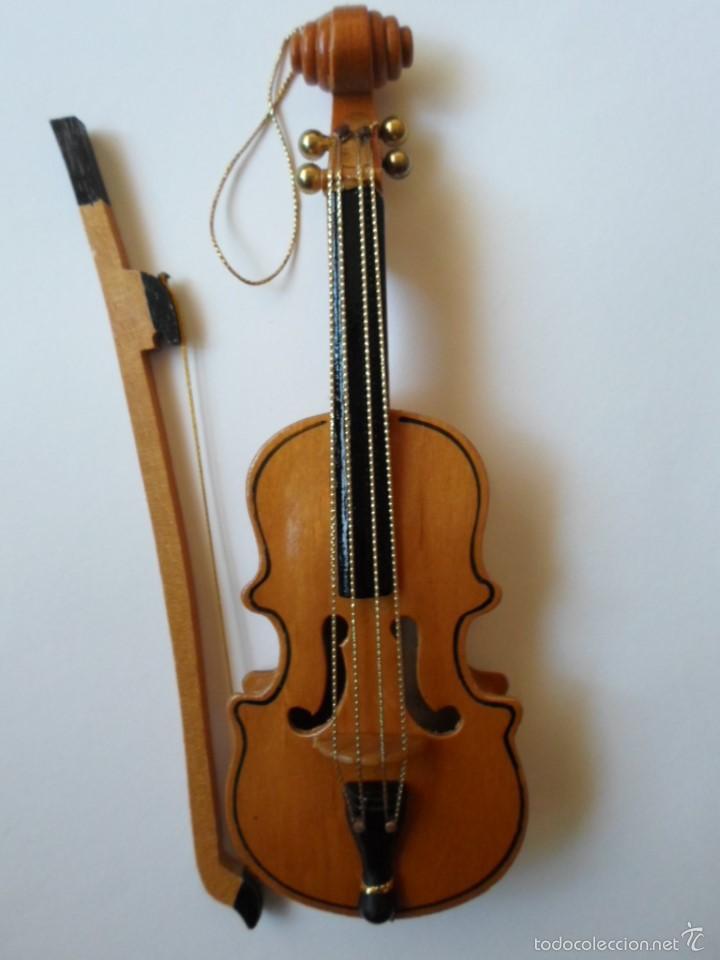 VIOLIN DE JUGUETE O DE COLECCION- MADERA - 18 CM - REINO UNIDO (Música - Instrumentos Musicales - Cuerda Antiguos)