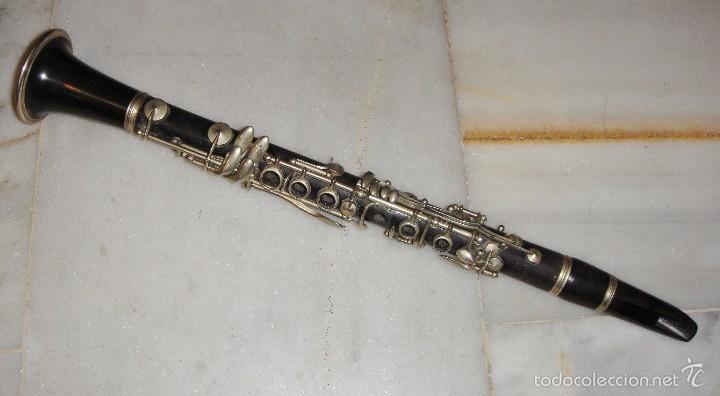 ANTIGUO REQUINTO DE EBANO. COUESNON - PARIS. JOSE PENADES - VALENCIA. (Música - Instrumentos Musicales - Viento Madera)