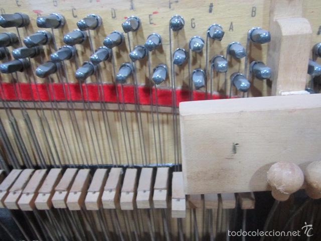 Instrumentos musicales: Antiguo organillo Vicente Llinares - Barcelona, con dos rodillos. Funcionando.Clavijero nuevo. - Foto 11 - 48143521