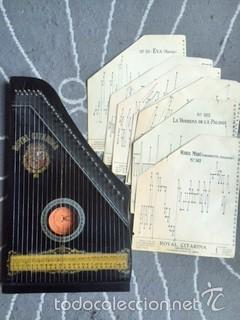 INSTRUMENTO DE MÚSICA-ROYAL CITARINA CON 14 PARTITURAS (Música - Instrumentos Musicales - Cuerda Antiguos)