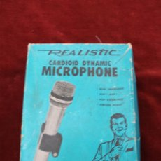 Instrumentos musicales: DYNAMIC MICROPHONE REALISTIC CARDIOID 33-992 MADE IN JAPAN. Lote 56642323