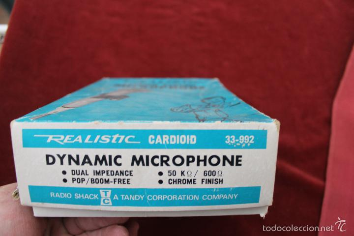 Instrumentos musicales: DYNAMIC MICROPHONE REALISTIC CARDIOID 33-992 MADE IN JAPAN - Foto 2 - 56642323