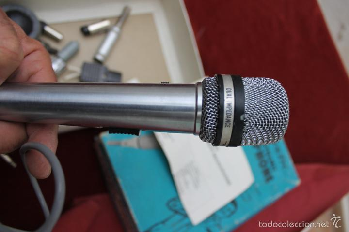Instrumentos musicales: DYNAMIC MICROPHONE REALISTIC CARDIOID 33-992 MADE IN JAPAN - Foto 7 - 56642323