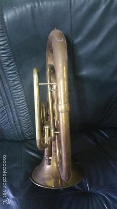 Instrumentos musicales: BONITA REPLICA DE TUBA DE METAL. - Foto 4 - 232296025