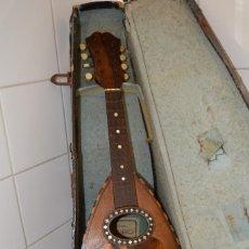 Instrumentos musicales: PRECIOSA Y ANTIGUA MANDOLINA NAPOLITANA ¨EL GLOBO¨, HACIA 1900, CON MALETA ORIGINAL.. Lote 56853569