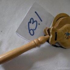 Instrumentos musicales: CASTAÑUELAS DE MANO EN MADERA. Lote 57136269