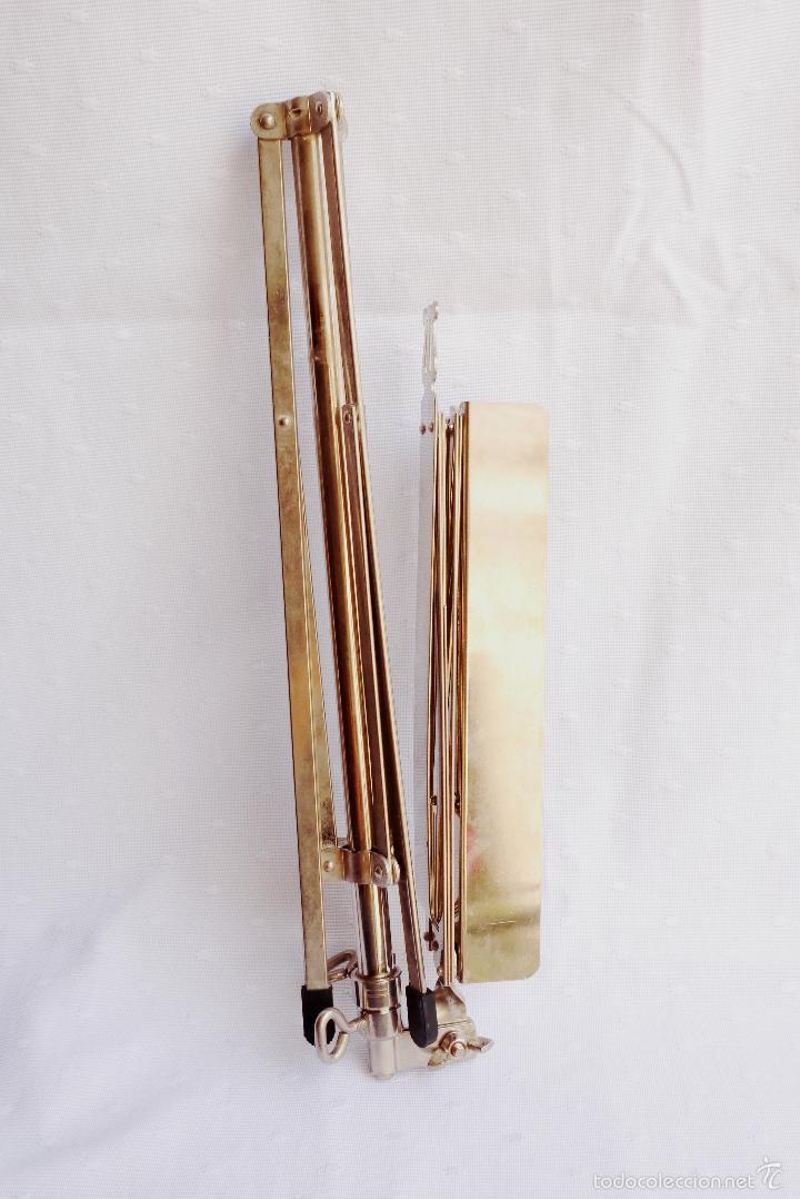 Instrumentos musicales: ATRIL DE METAL PARA PARTITURAS, APUNTES ETC COMO NUEVO - Foto 3 - 57351660