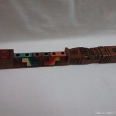 Instrumentos musicales: FLAUTA DE MADERA BOLIVIANA INCA -ARTESANÍA TÍPICA - HECHA A MANO . Lote 57438481
