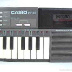 Instrumentos musicales: ORGANO TECLADO PIANO ELECTRONICO -CASIO PT-87 +ROM PACK RO-551- JAPAN 80S - ¡¡¡FUNCIONANDO ¡¡¡ PT87. Lote 98222200