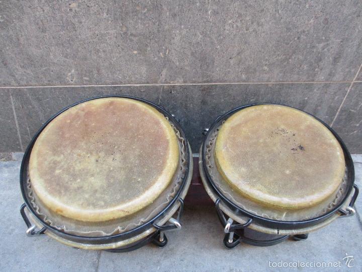 Instrumentos musicales: 2 Tambores unidos de madera y piel de marca One Rhythm - Foto 2 - 57565249