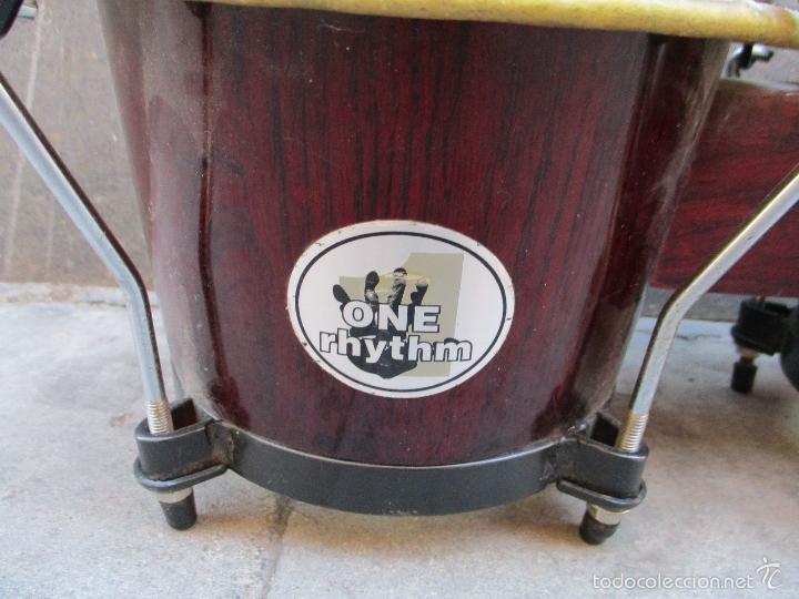 Instrumentos musicales: 2 Tambores unidos de madera y piel de marca One Rhythm - Foto 3 - 57565249