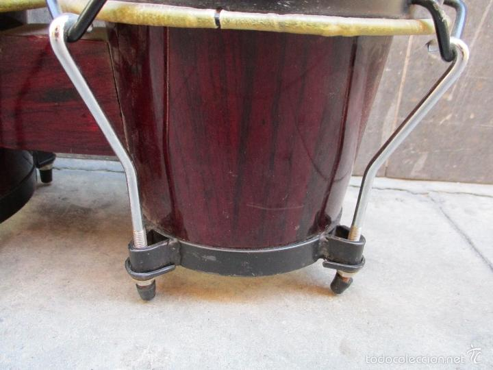 Instrumentos musicales: 2 Tambores unidos de madera y piel de marca One Rhythm - Foto 4 - 57565249